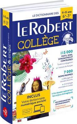 DICTIONNAIRE LE ROBERT COLLEGE  -  1115 ANS