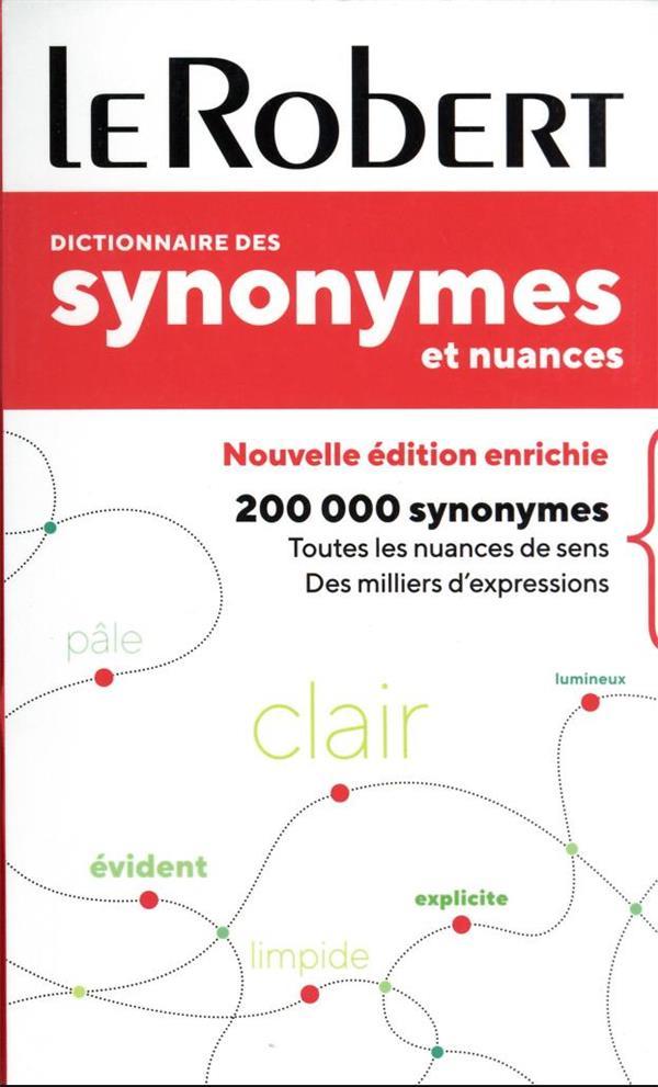 DICTIONNAIRE DES SYNONYMES ET NUANCES - POCHE COLLECTIF LE ROBERT