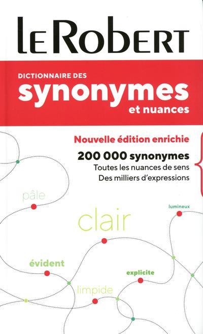 DICTIONNAIRE LE ROBERT DES SYNONYMES ET NUANCES  -  POCHE+