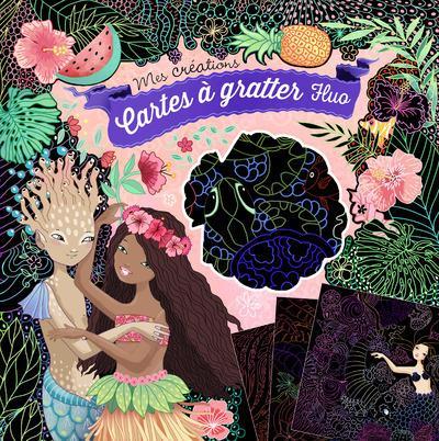POCHETTE CARTES A GRATTER FLUO Cresci Anne Gründ