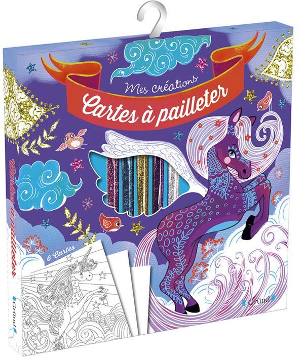 CARTES A PAILLETER  -  CHEVAUX MAGIQUES