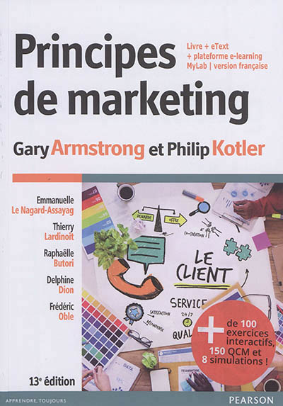 PRINCIPES DE MARKETING 13E + MYLAB