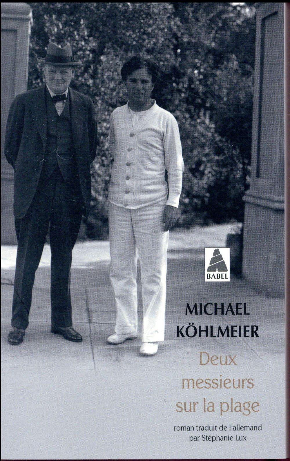 DEUX MESSIEURS SUR LA PLAGE (B KOHLMEIER MICHAEL/LU ACTES SUD