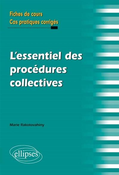 L'essentiel des procédures collectives