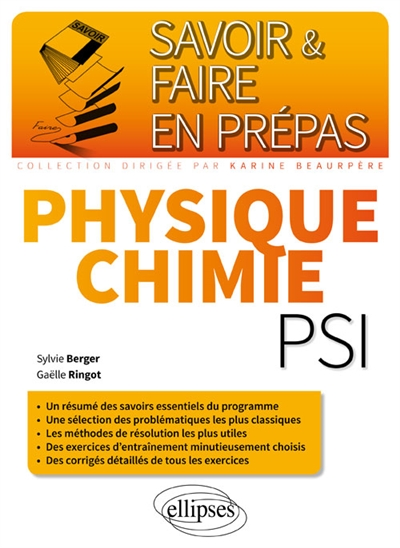 Ringot Gaëlle - Physique-chimie PSI-PSI*
