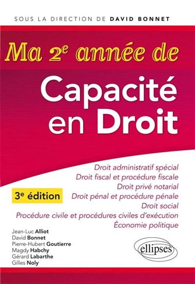 MA 2E ANNEE DE CAPACITE EN DROIT - 3E EDITION