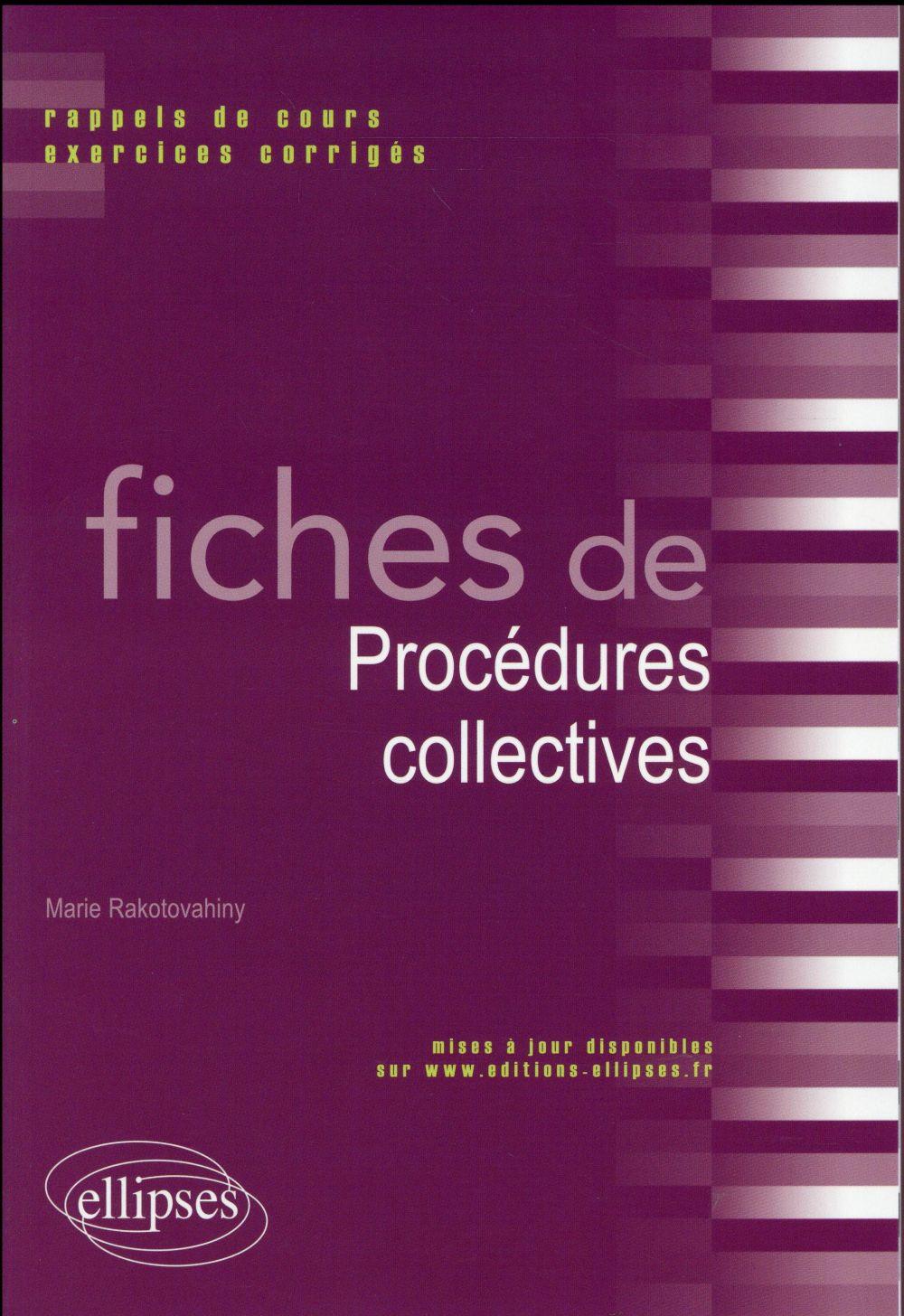 Fiches de procédures collectives