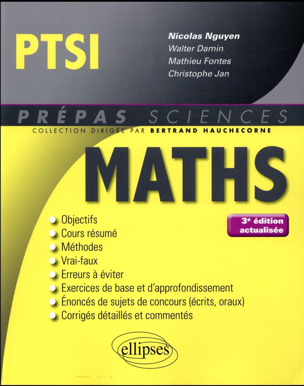 Jan Christophe - MATHEMATIQUES PTSI - 3E EDITION ACTUALISEE