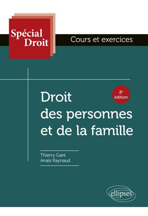 SPECIAL DROIT  -  DROIT DES PERSONNES ET DE LA FAMILLE (2E EDITION)