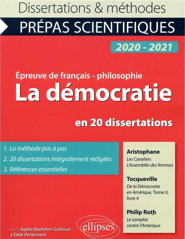 ROCHEFORT - LA DEMOCRATIE EN 20 DISSERTATIONS. ARISTOPHANE, LES CAVALIERS, L'ASSEMBLEE DES FEMMES - TOCQUEVILLE,