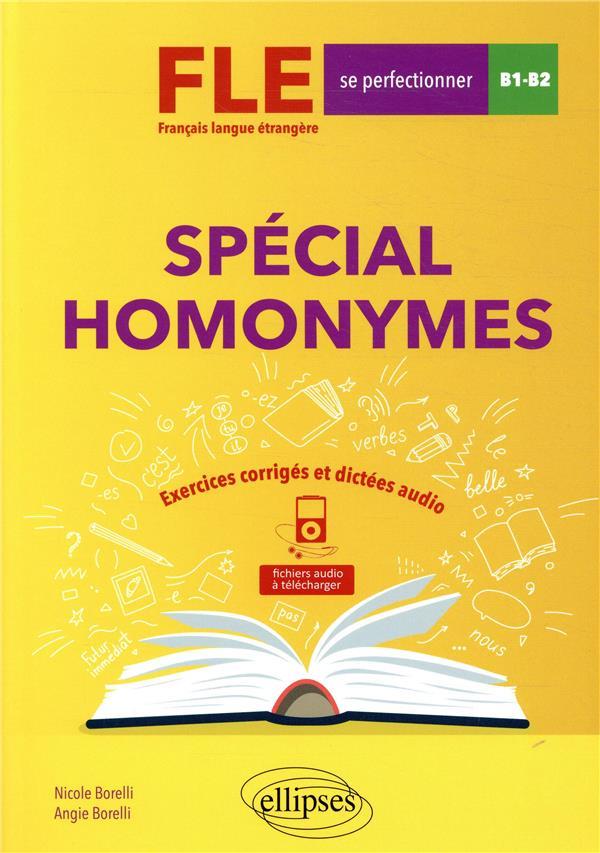 FLE     B1>B2     SPECIAL HOMONYMES
