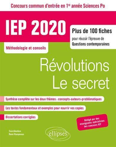 RAMPNOUX - CONCOURS COMMUN IEP 2020. PLUS DE 100 FICHES POUR REUSSIR L'EPREUVE DE QUESTIONS CONTEMPORAINES - EN