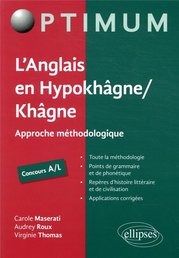 L'ANGLAIS EN HYPOKHAGNEKHAGNE CONCOURS AL   APPROCHE METHODOLOGIQUE