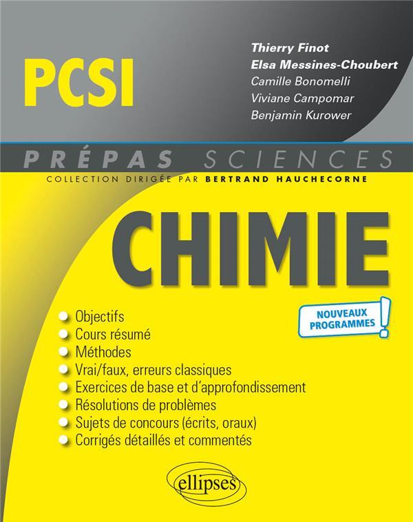 CHIMIE  -  PCSI  -  NOUVEAUX PROGRAMMES FINOT ELLIPSES MARKET