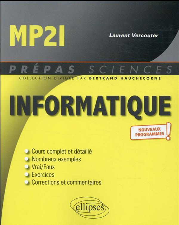 INFORMATIQUE  -  MP2I  -  NOUVEAUX PROGRAMMES