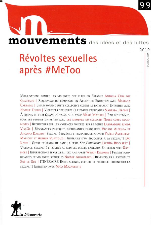 REVUE MOUVEMENTS NUMERO 99 REVOLTES SEXUELLES APRES #METOO