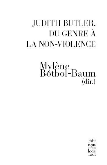 JUDITH BUTLER, DU GENRE A LA NON-VIOLENCE