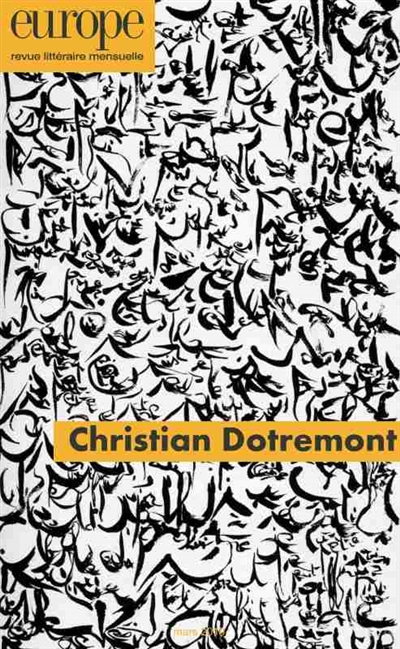 CHRISTIAN DOTREMONT - N  1079 COLLECTIF REVUE EUROPE