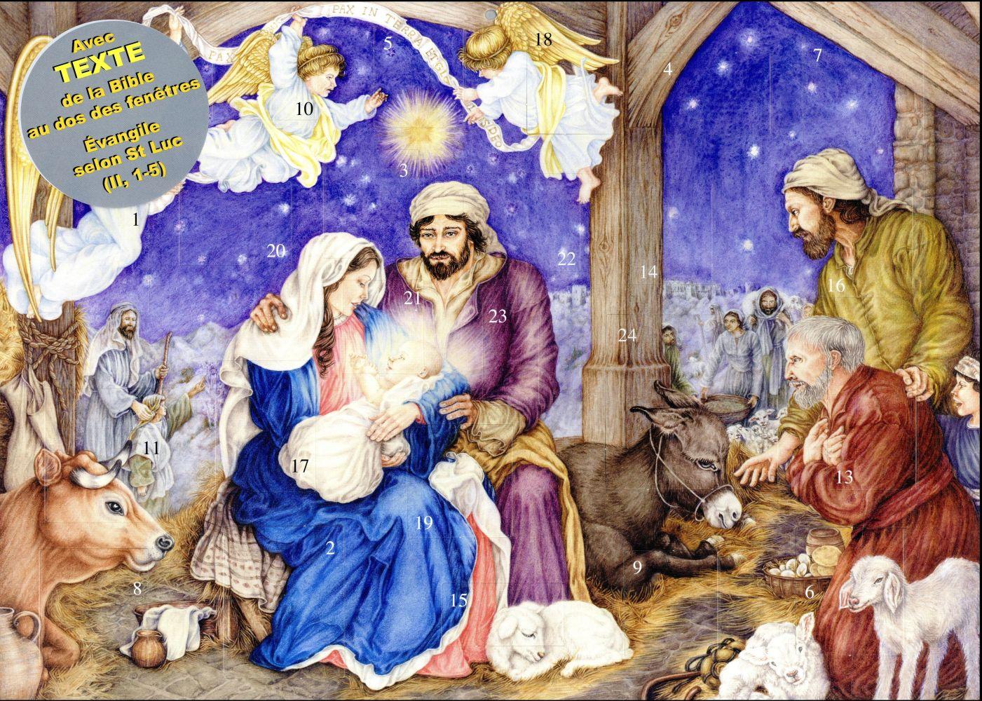 CALENDRIER DE L'AVENT PETIT JESUS EST NE