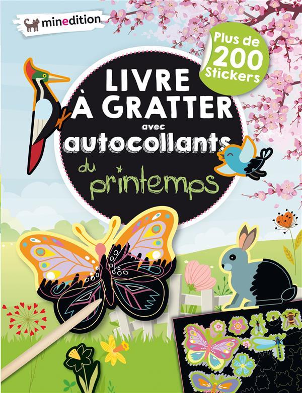 LIVRE A GRATTER AVEC AUTOCOLLANTS DU PRINTEMPS
