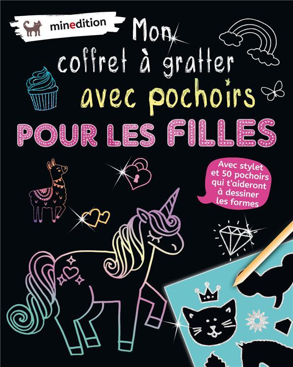 MON COFFRET A GRATTER AVEC POCHOIRS  -  POUR LES FILLES