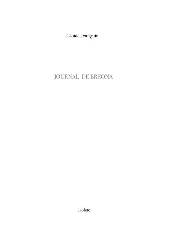 JOURNAL DE BREONA     NOTES SUR LA MONTAGNE