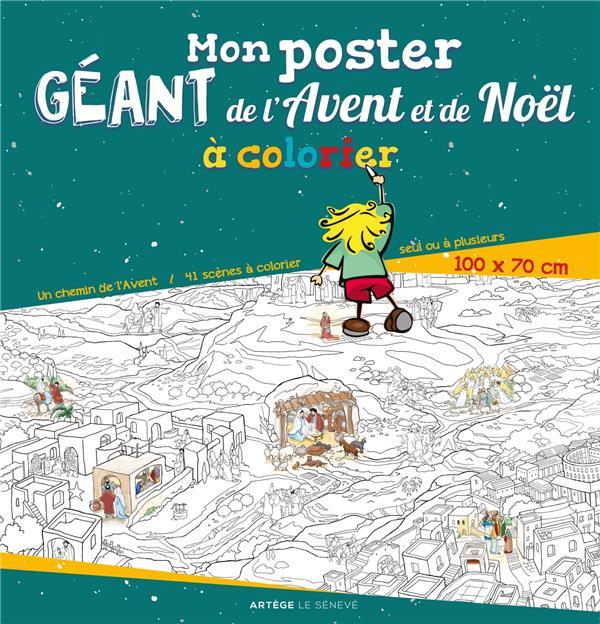 MON POSTER GEANT DE L'AVENT ET DE NOEL A COLORIER