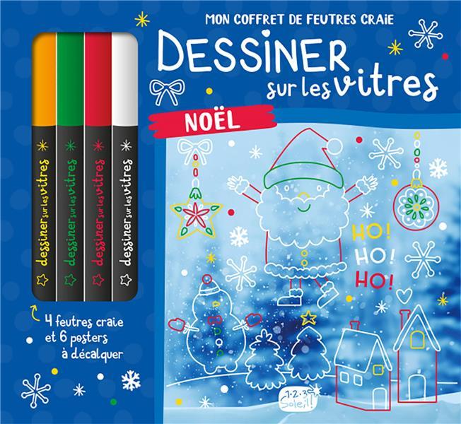 DESSINER SUR LES VITRES  -  MON COFFRET DE FEUTRES CRAIE  -  NOEL