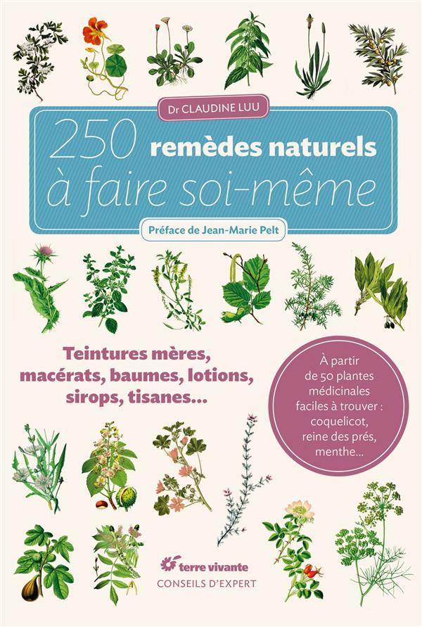 250 REMEDES NATURELS A FAIRE SOI-MEME  -  TEINTURES-MERES, MACERATS, BAUMES, LOTIONS, SIROPS, TISANES... LUU (DR) CLAUDINE Terre vivante