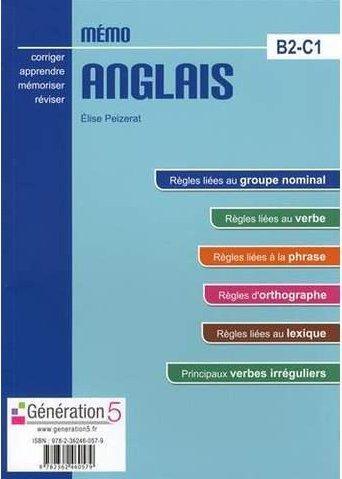 MEMO  -  ANGLAIS B2-C1  -  (CLASSES PREPAS  ENS. SUPERIEUR)