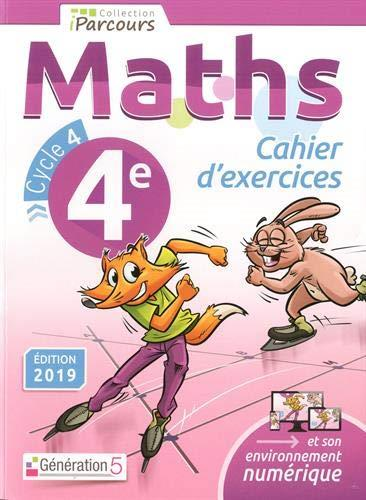 CAHIER D-EXERCICES IPARCOURS MATHS 4E (2019 )