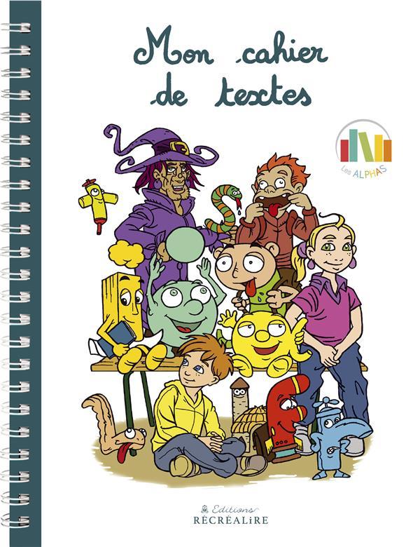 MON CAHIER DE TEXTES DES ALPHAS