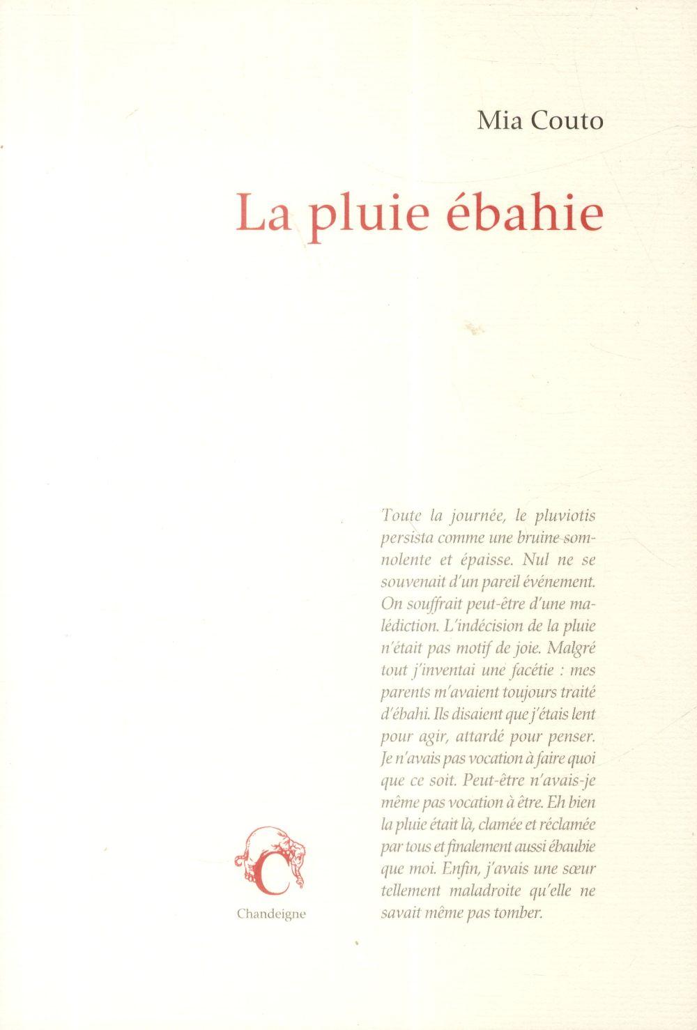 LA PLUIE EBAHIE