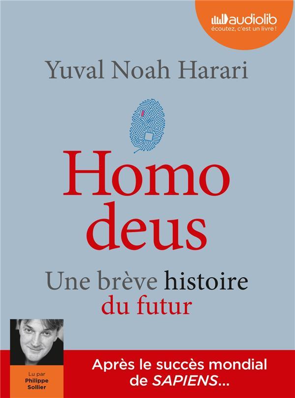 HOMO DEUS - UNE BREVE HISTOIRE DU FUTUR - LIVRE AUDIO 2 CD MP3  AUDIOLIB