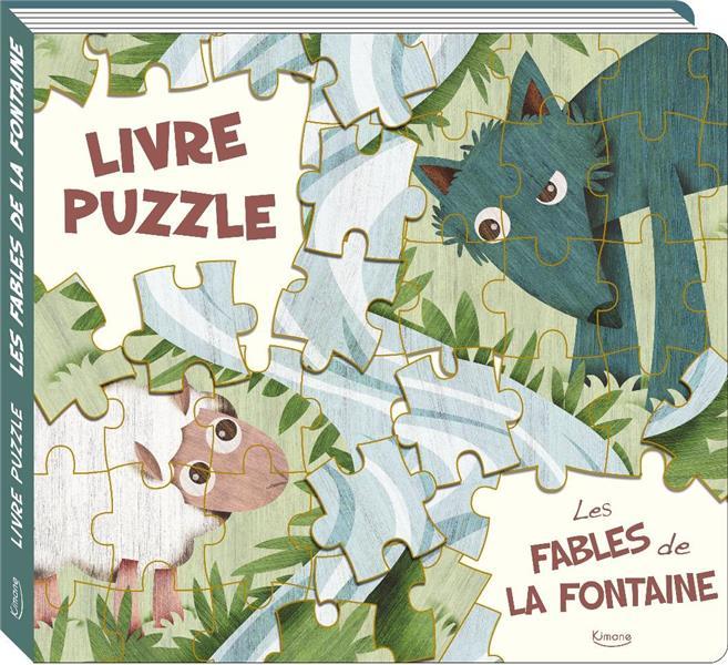 LES FABLES DE LA FONTAINE  -  LIVRE PUZZLE JEAN DE LA FONTAINE/ KIMANE