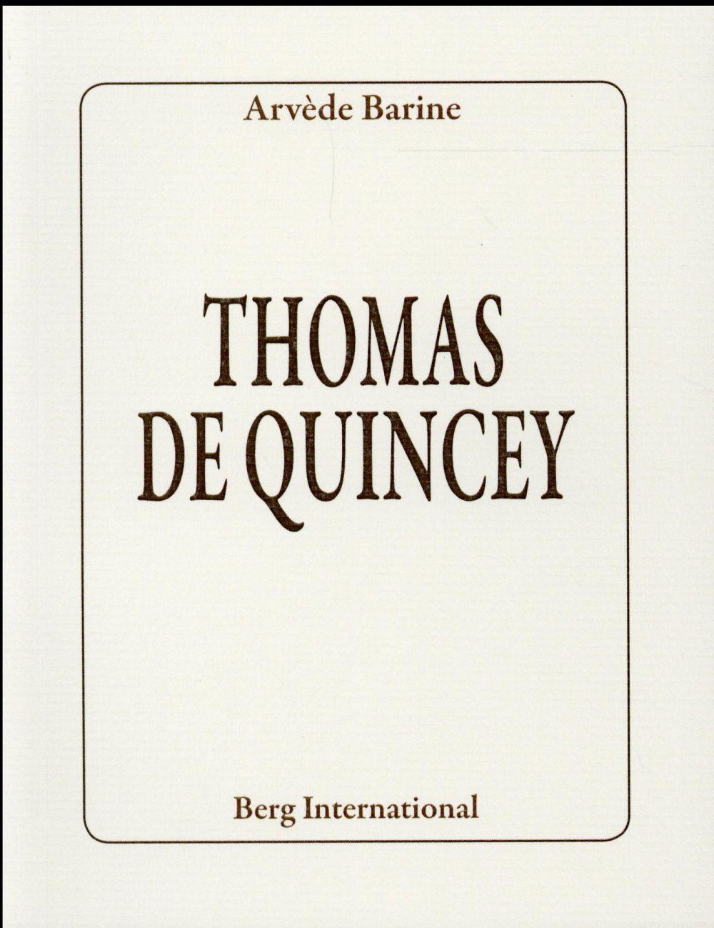 THOMAS DE QUINCEY