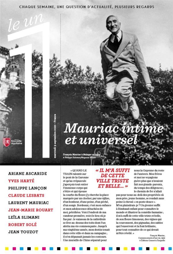 LE 1 N.313  -  L'ECOLE AU TEMPS DU COVID  -  NUMERO SPECIAL : FRANCOIS MAURIAC INTIME ET UNIVERSEL LANCON/SLIMANI NC