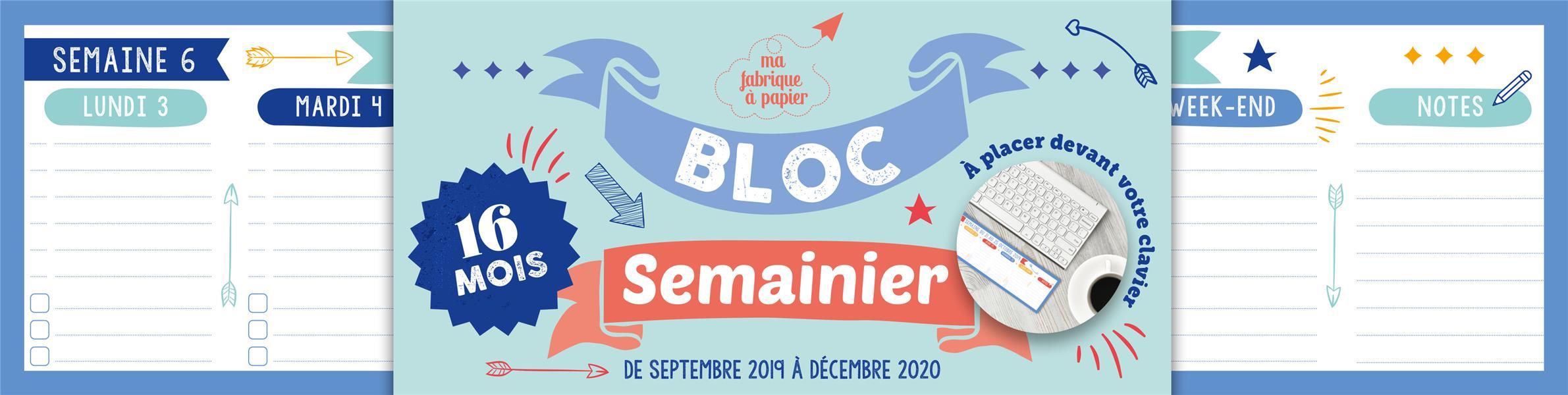 XXX - SEMAINIER BLOC CLAVIER 2019-2020