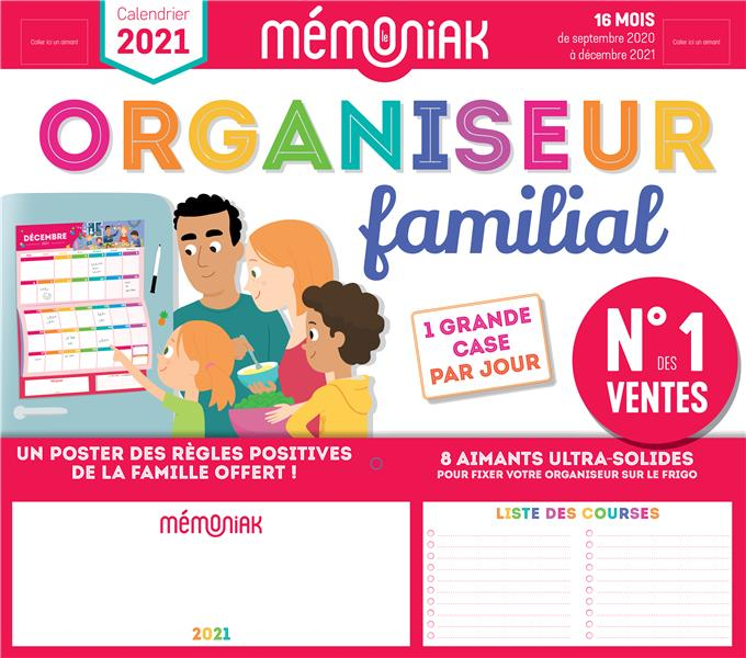 MEMONIAK  -  ORGANISEUR FAMILIAL (EDITION 20202021) EDITIONS 365/NESK NC