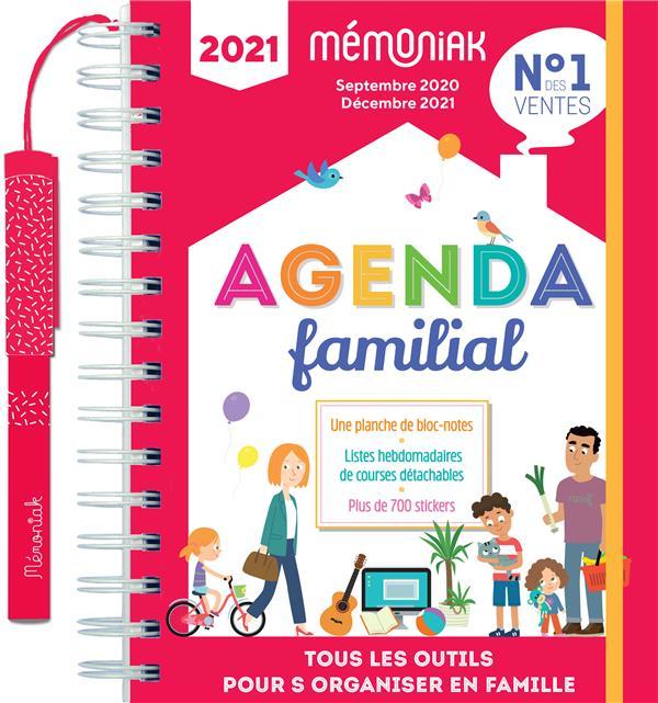 AGENDA FAMILIAL MEMONIAK  -  SEPTEMBRE 2020-DECEMBRE 2021