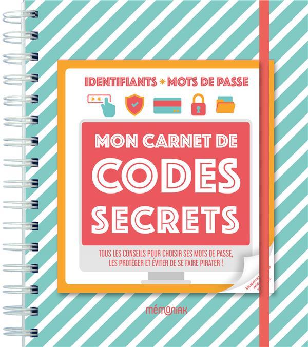 MON CARNET DE CODES SECRETS MEMONIAK 2021