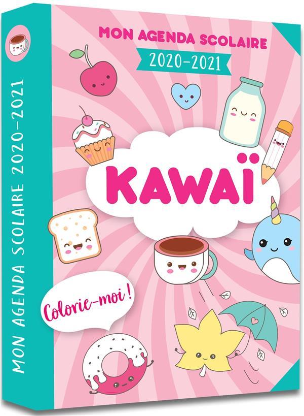 MON AGENDA SCOLAIRE KAWAI  -  COLORIE-MOI (EDITION 20202021)