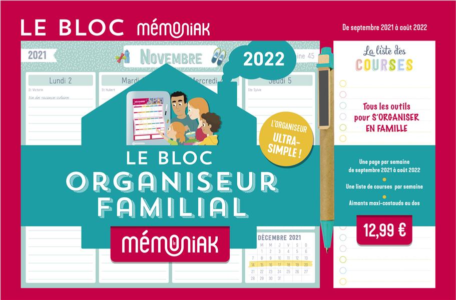 LE BLOC ORGANISEUR MEMONIAK 2021-2022 COLLECTIF NC