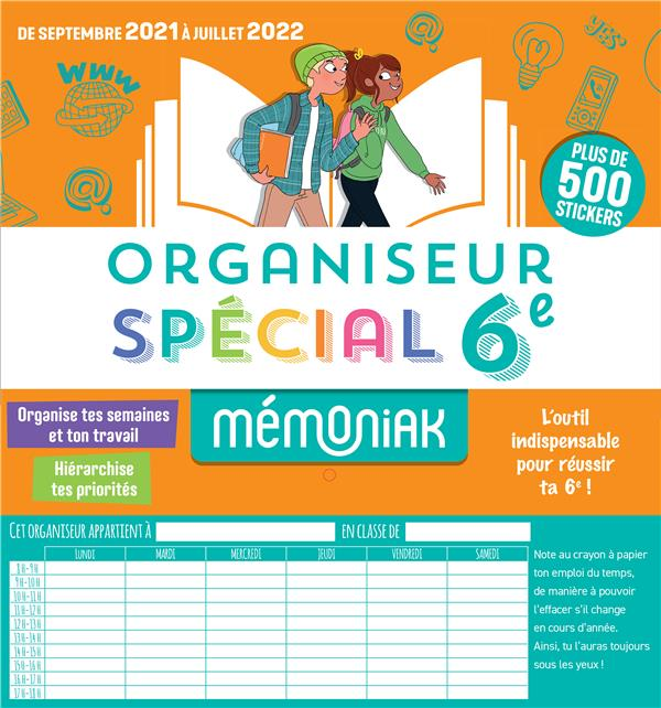 MEMONIAK  -  ORGANISEUR SPECIAL 6E (EDITION 20212022) XXX NC
