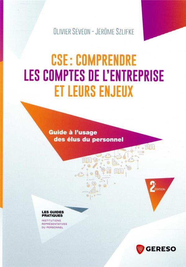 CSE : COMPRENDRE LES COMPTES DE L'ENTREPRISE ET LEURS ENJEUX : GUIDE A L'USAGE DES ELUS DU PERSONNEL (2E EDITION)