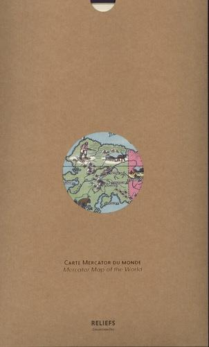 CARTE  -  CARTE MERCATOR DU MONDE CHASE, ERNEST DUDLEY RELIEFS