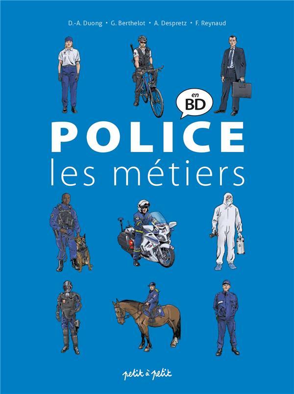 POLICE EN BANDE DESSINEE  -  LES METIERS