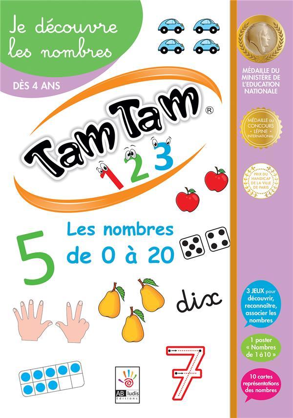 TAM TAM 1 2 3  -  JE DECOUVRE LES NOMBRES  -  LE MEILLEUR DOCUMENTAIRE DU MONDE - JOUET AB LUDIS EDITIONS NC
