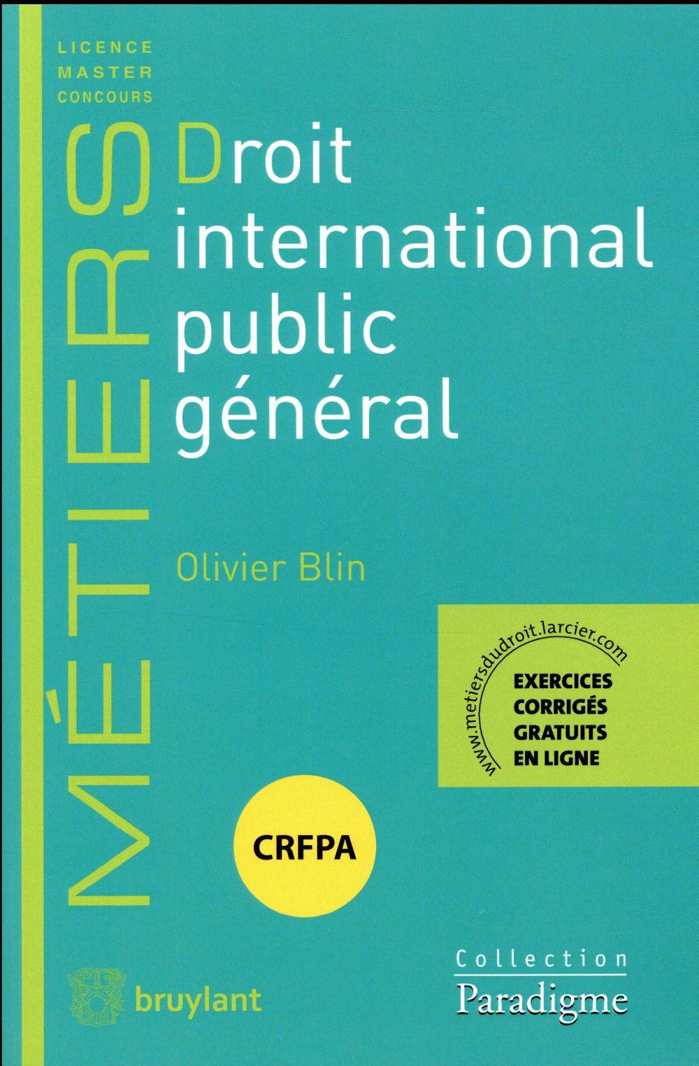 DROIT INTERNATIONAL PUBLIC GENERAL