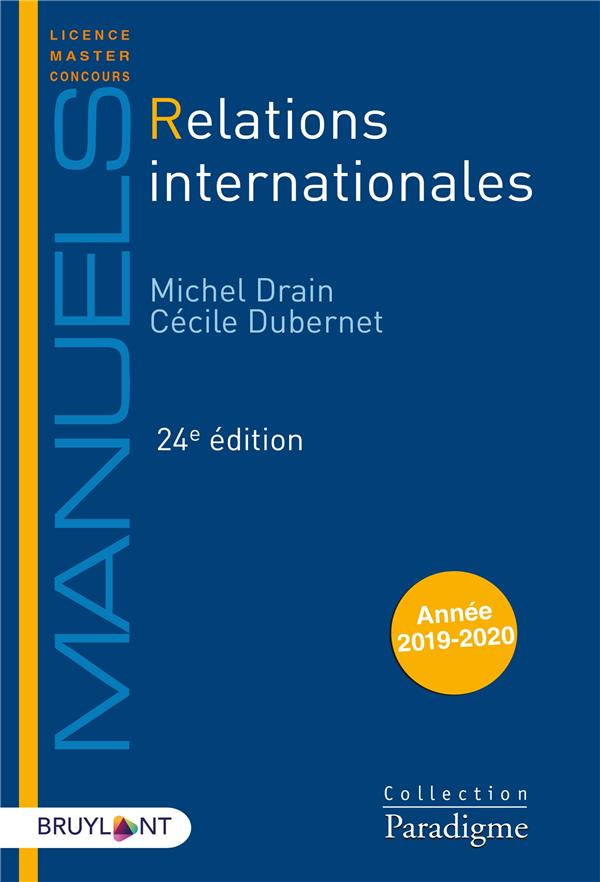RELATIONS INTERNATIONALES (EDITION 2020)